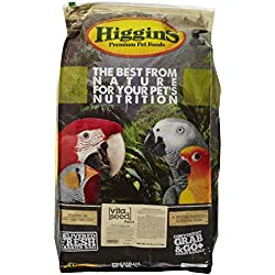 Higgins 466145 Vita Seed Parrot Food For Birds, 25-Pound