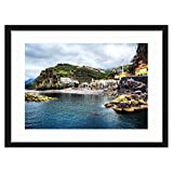 JKYUKO 20 Inch Black Wall Picture Frame Beautiful Scenery- Made to Display Pictures 12x16 with Mat or 16x20 Without Mat