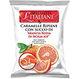 Serra Le Italiane, Italian Natural Hard Candy Filled With Red Orange From Sicily Italy, 3.5 oz