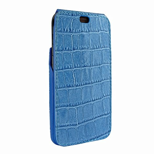 Piel Frama 792 Blue Crocodile iMagnum Leather Case for Apple iPhone X by Piel Frama (Image #2)