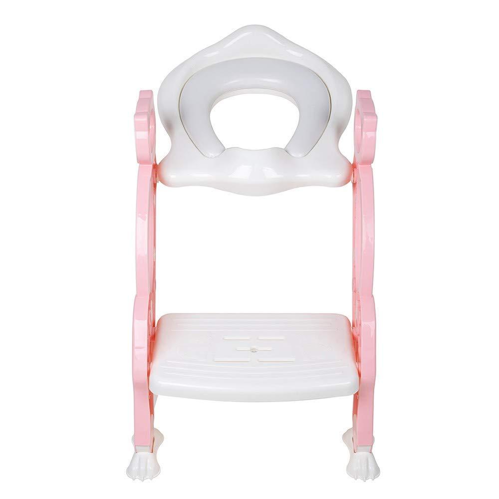 Baninni Kinder Toilettensitz mit Treppe Bravo Rosa