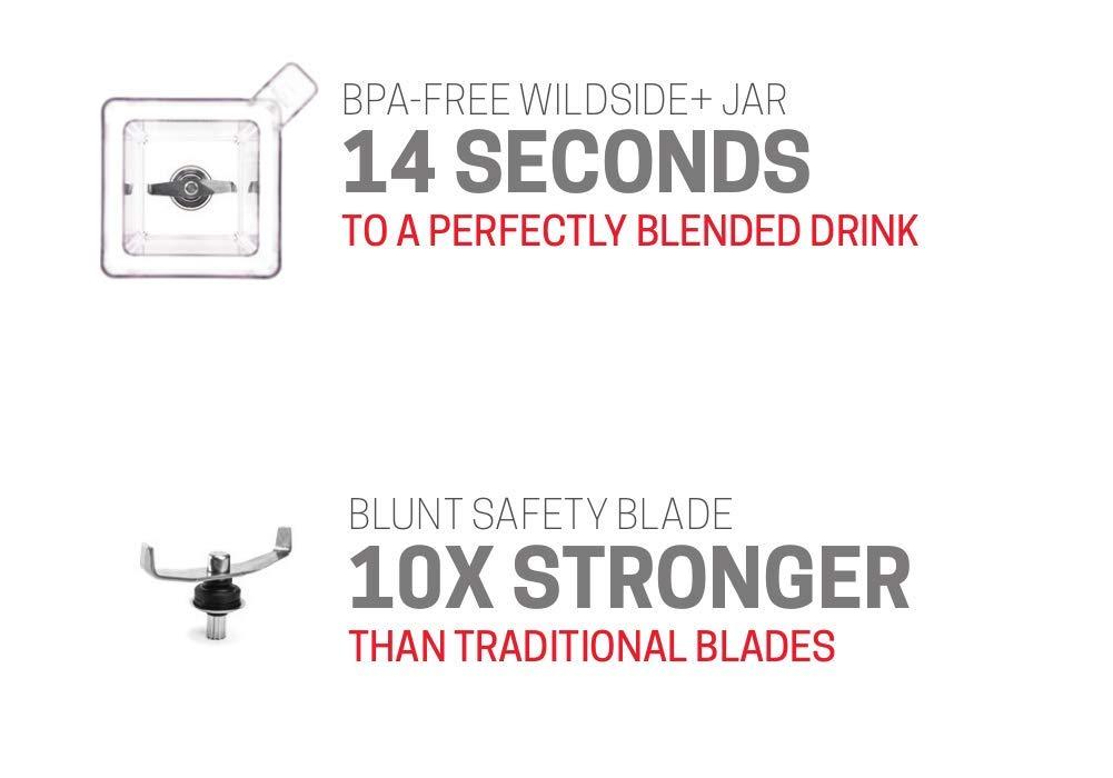 - Four Sided Clear BPA Free Professional-Grade Blender Jar 75 oz Blendtec FourSide Jar Black Soft Lid