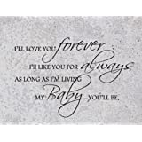I'll Love You Forever, I'll Like You for Always, As Long As I'm Living, My Baby You'll Be - Vinyl Wall Sticker Quotes Sayings Nursery Decor Decal