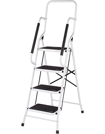step ladders amazon Finishing Attics into Rooms livingsure 354173 folding four step ladder with handrails tier white