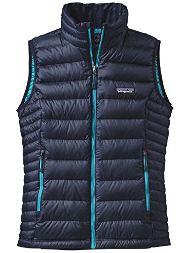Patagonia - Chaleco de plumón para mujer Navy Blue w/Epic Blue
