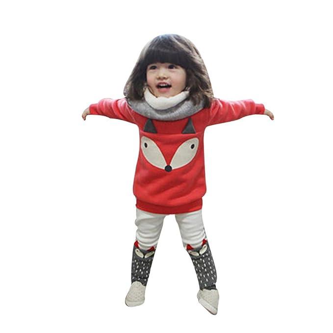 Feixiang Ropa para niños bebé niño niña Zorro de Manga Larga ...