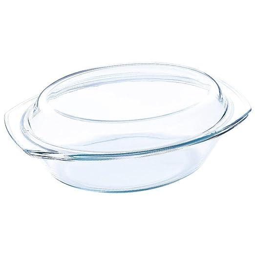 Blaumann - Fuente ovalada con tapa para horno y microondas, vidrio ...