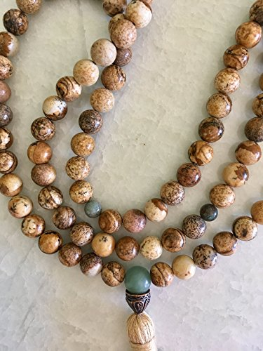 Picture Jasper Necklace Tassel Beads product image