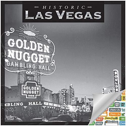 Historic Las Vegas Calendar 2019 Set - Deluxe 2019 Las Vegas Wall Calendar with Over 100 Calendar Stickers (Las Vegas Gifts, Office Supplies)