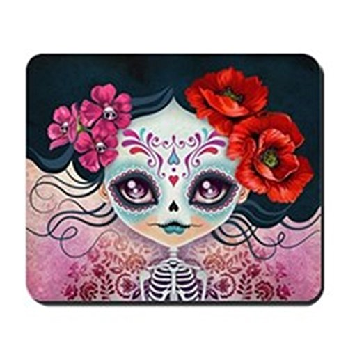 [CafePress - Amelia Calavera Sugar Skull - Non-slip Rubber Mousepad, Gaming Mouse Pad] (Cute Halloween Gifts For Coworkers)