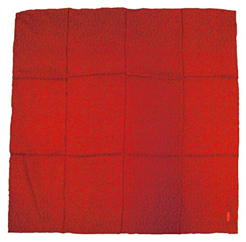 Wyoming Traders Mens Calico Silk Wild Rag Scarf Crimson Red ()