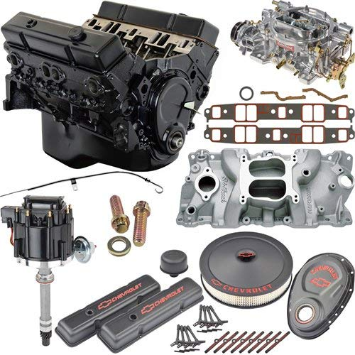 - JEGS 7353K5 Small Block Chevy 350ci Crate Engine Kit Pre-1986 Cast Iron Cylinder