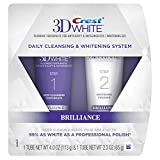 Crest 3D White Brilliance Toothpaste, Teeth Whitening and Deep Cleansing via Daily Two-Step System - 4.0 Oz and 2.3 Oz Tubes