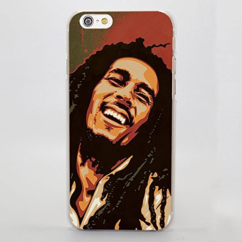 Black Bob Marley iPhone 7 Plus Sized Case Bigger Screen Rastafari Reggae Musical and Cultural Icon 8 Plus Cover Jamaican Singer Songwriter Musician Marley Jamaica Marijuana Weed Pot, Plastic -