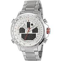 Winghead Shark Men's SH329 Digital Analog Quartz Day Date Alarm Stainless steel Wrist Watch