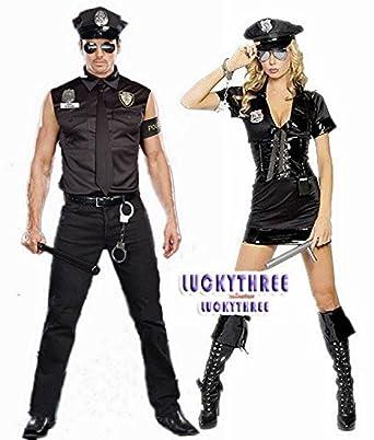 ハロウィン ペアルック衣装 カップル ペア警察衣装セット 1着分 コスチューム 仮面舞踏会 クリスマス