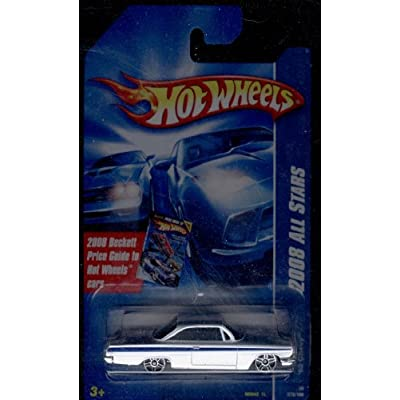 Hot Wheels 2008 All Stars White '62 Chevy w/ PR5s on Beckett Price Guide Card #76 1:64 Scale: Toys & Games