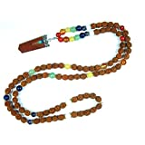 Yoga Gift- Spirituality Seven Chakra Stone Rudraksha Healing Mala with Reiki Healing Life Balance Pendant