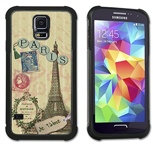 Paris Je T'aime - Maximum Protection Case / Cover with Cushioned Corners for Samsung Galaxy S5