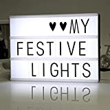 DIY Cinema Light Box with 90 Letters and LED Light, Mini LED Light Box, for Wedding, Home, Photoshoots, Birthday Party
