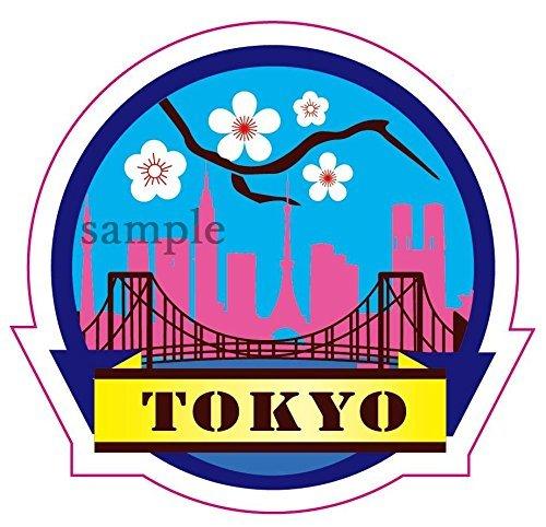 Travel Sticker ''TOKYO 東京 JAPAN 日本'' Made of Waterproof Paper (JAPAN import) by STICKERMANIA