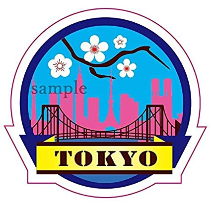 Travel sticker tokyo 東京 japan 日本 made of waterproof paper japan