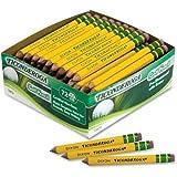 Dixon Ticonderoga 13472 Woodcase Golf Pencil, HB No.2, Yellow Barrel