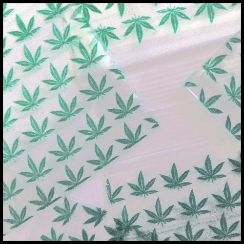 "100 Mini Ziplock Baggies 2020 Get Real Designs Mix Apple Brand High End Quality 2"" X 2"" (Green Leaf)"