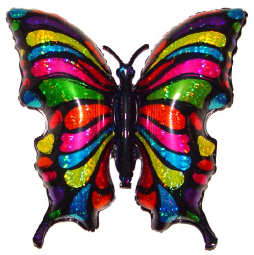 """Award Winning 33"""" POP ART BUTTERFLY Zero-Gravity Balloons Hover & Drift in Mid-Air with """"NO STRINGS ATTACHED""""! FUN for All Ages! Includes Weights for Easy Height Control. The """"HIT of the PARTY!"""""""