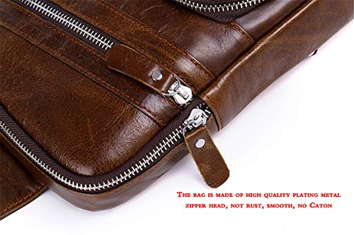 Shining Men's Kids Bag Colors Optional Messenger Genuine Leather Casual Two Black Chest CqgCH