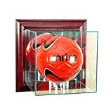 MLS Wall Mounted Soccer Glass Display Case, Cherry