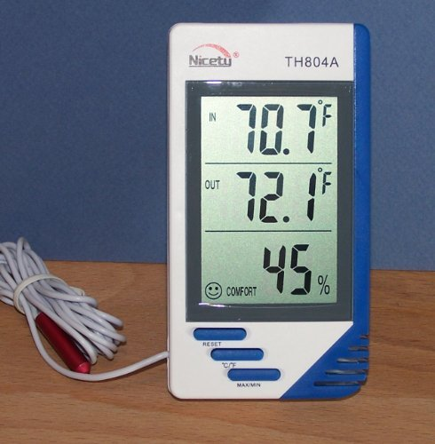 Indoor Outdoor Temperature Humidity Meter TH804A Hygrometer Gauge by Judastice