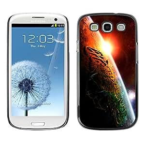 Religiosa inscripción islámica - Metal de aluminio y de plástico duro Caja del teléfono - Negro - Samsung Galaxy S3