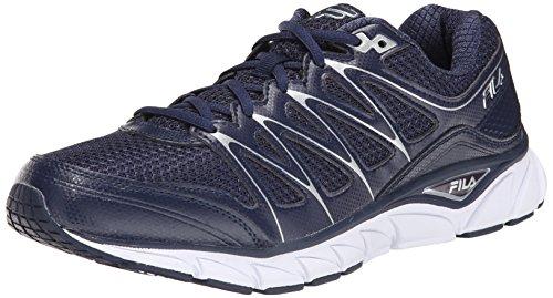 Fila Mens Excellarun Running Shoe Navy/Metallic Silver/White