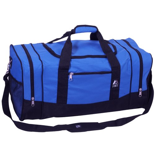 Everest Luggage Sporty Gear Bag – Large, Royal Blue, Royal Blue, One Size