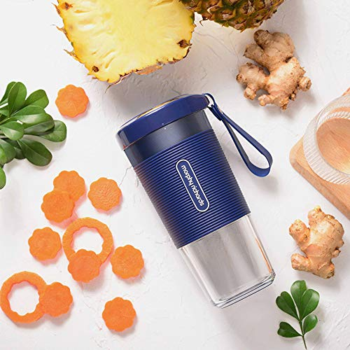 Portable Blender Mini Personal Blender Small Smoothie Blender Fruit Juicer Mixer for Home Outdoor Travel Office with USB Rechargeable,IP68 Waterproof, BPA Free,350ml(Luxury Blue)