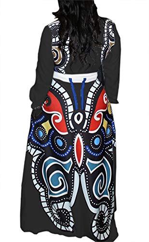 ead7d86ac0 VLUNT Women's African Floral Print A Line Long Skirt Pockets Two Pieces Maxi  Dress