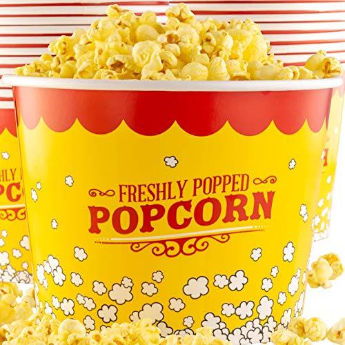Premium Leak-Free 85 Oz Disposable Popcorn Tub 50pk