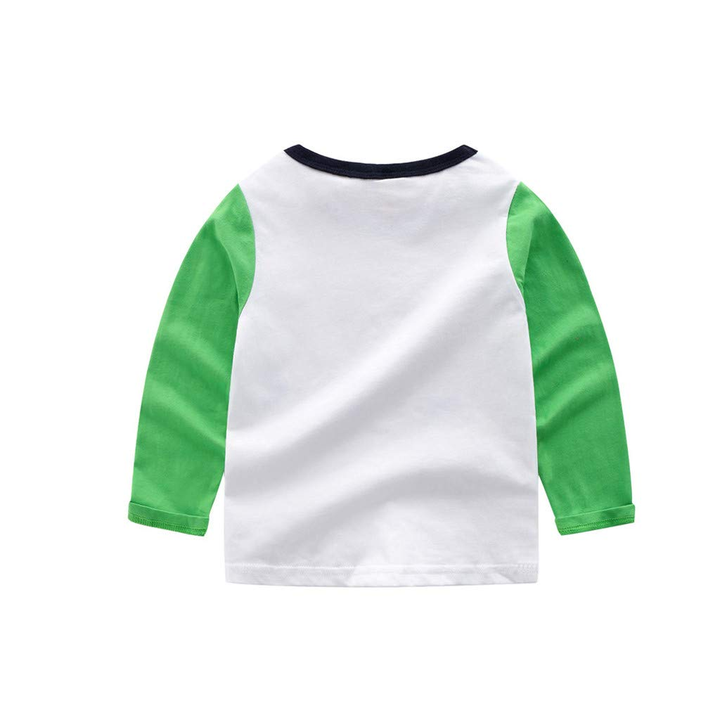 Rolayllove Children Kid Baby Girl Boy Long Sleeve Cartoon Tops Shirts Tee Casual Clothes
