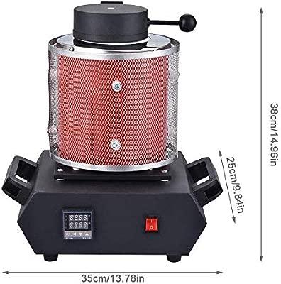 LHRGYY Horno de Fusión de Oro 1100℃ 1600W con Crisol de Grafito ...