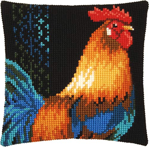 Vervaco Rooster Pillow Cover Needlepoint - Rooster Needlepoint