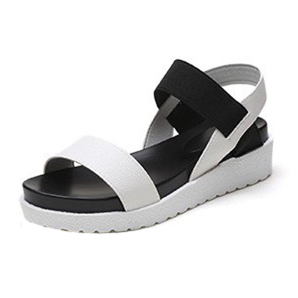 Women Peep Toe Sandals Clearance Sale,NDGDA Low Shoes Roman Sandals Ladies Flip Flops