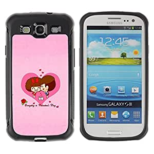 "Hypernova Defender Series TPU protection Cas Case Coque pour Samsung Galaxy S3 III I9300 [Corazón del amor Pares lindos""]"