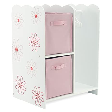 18 Inch Doll Storage Clothes Open Wardrobe Furniture Fits 18u0026quot; American  Girl Dolls   Includes