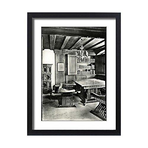 Framed 24x18 Print of Nuremberg, Germany - interior of Albrecht Durer s house (14379349) (Wall Bracket Collection Renaissance)