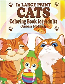 Amazon.com: Cats Coloring Book For Adults (In Large Print ...