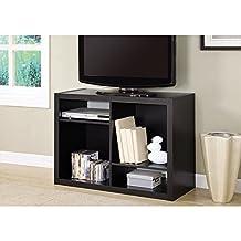 """Monarch Specialties I 2520 Cappuccino Hollow Core 38"""" TV Console or Bookcase"""