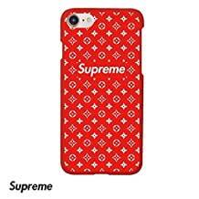 Supreme x Haute LV Fashion iPhone 6/6s Case - Hardshell Slim/Thin Fit Matte Finish (Red/Black) (Red)