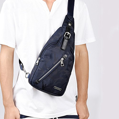 Camouflage Cloth Messenger E Backpack Chest Oxford Shoulder Bag Men's Small Casual 7qx1I4zwY1