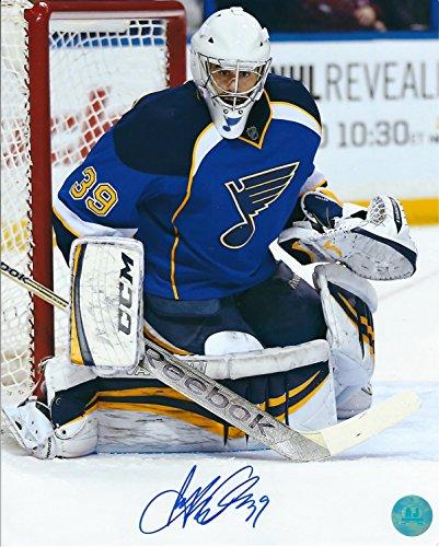 Autographed Ryan Miller 8x10 St. Louis Blues Photo (Autographed Ryan Miller)
